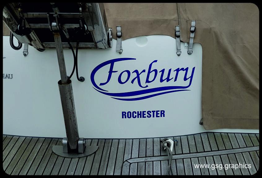 Boat Name - Foxbury