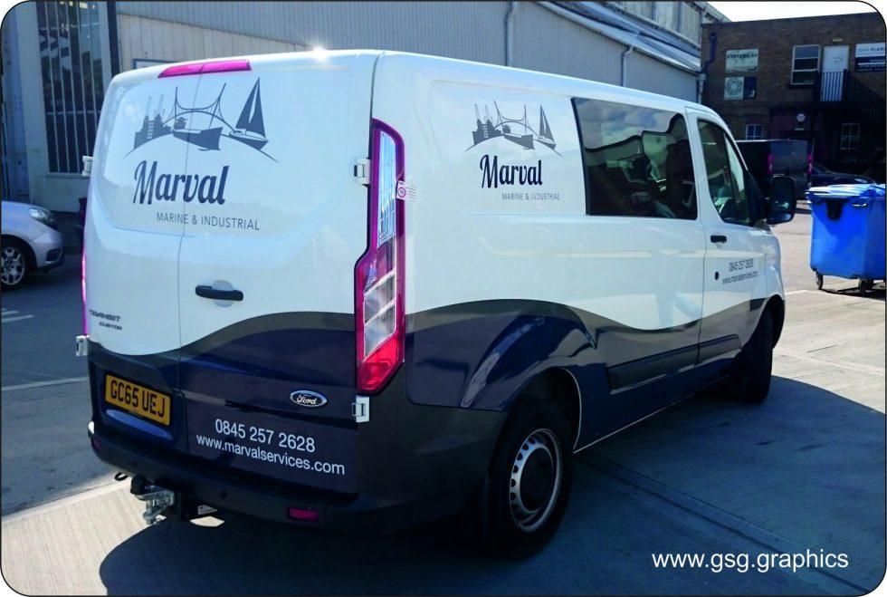 Van Graphic - Marval - Part Wrap vinyl graphics