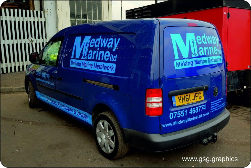 Van Graphic - Medway Marine - Cut Vinyl Graphics