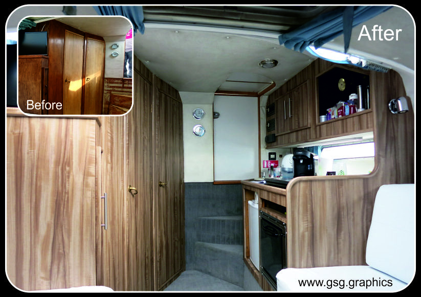 Fairline Targa 27 Interior Wood Finish Wrap