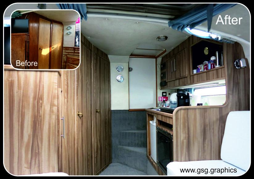 Fairline Targa 27 Interior Wood Finish Wrap