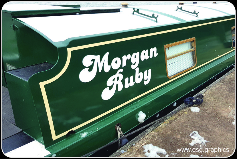 Narrow Boat Stripes and Name