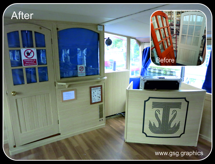 Turks Party Boat Colour Change Interior Wrap
