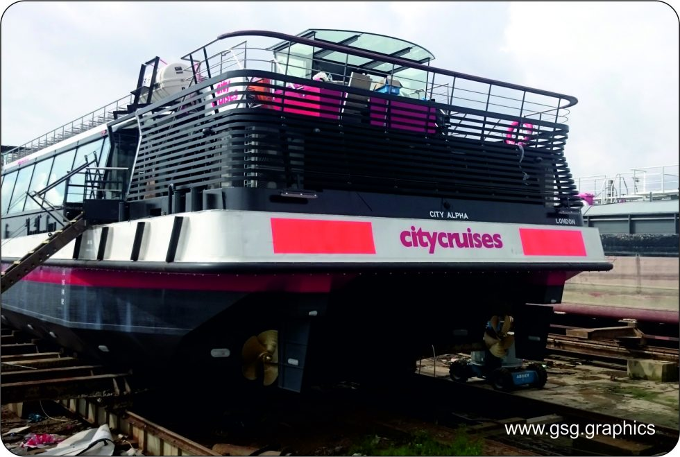 commercial vessel - City Cruises Aft Branding City Alpha