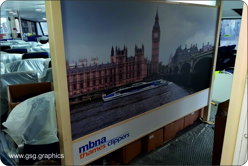 commercial vessel - Thames Clipper Interior Branding