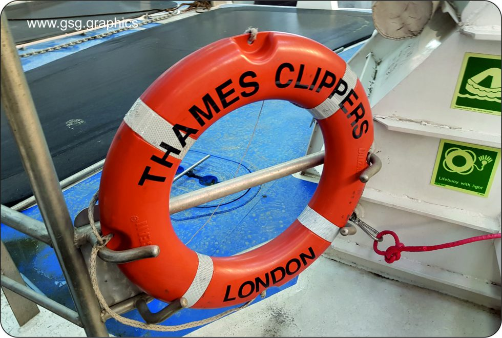 commercial vessel - Thames Clipper Life Ring